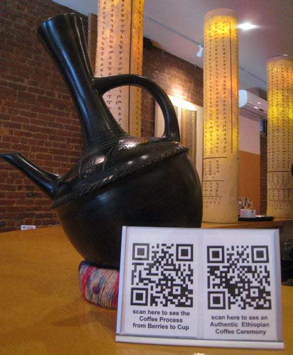 Ethiopian Restaurant Uses QR Codes