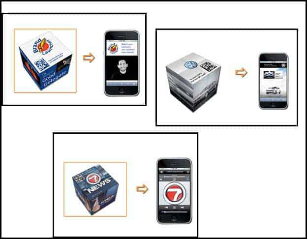 Examples of Magicubes Promotional QR Codes for Companies
