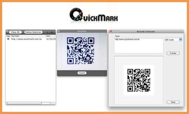 Screenshot of QuickMark App at Mac Store
