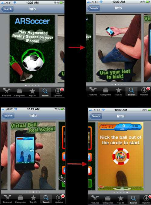 Free Augmented Reality Game on iphone
