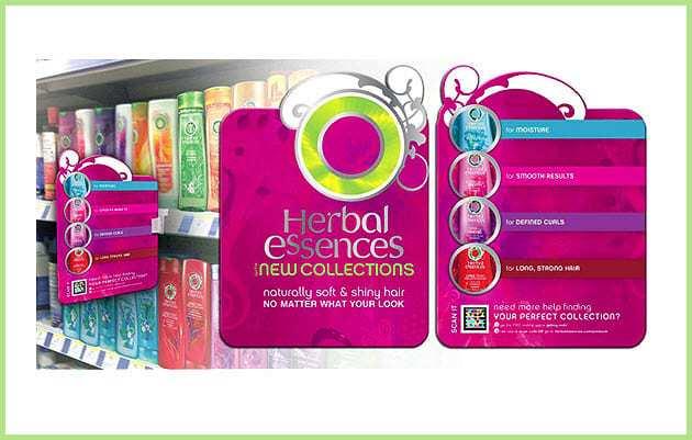 Herbal Essences Uses Colorful Microsoft Tags