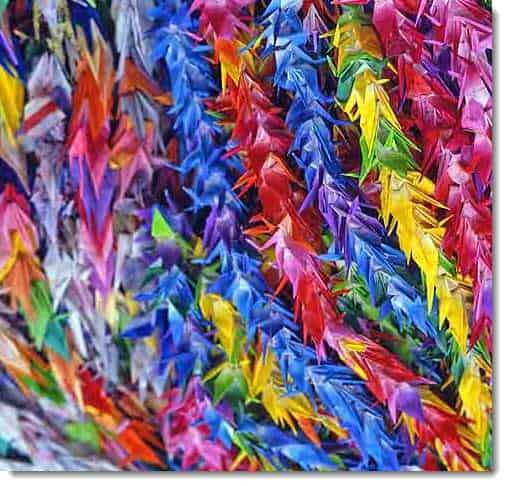 Origami Cranes Used to Help Raise Money