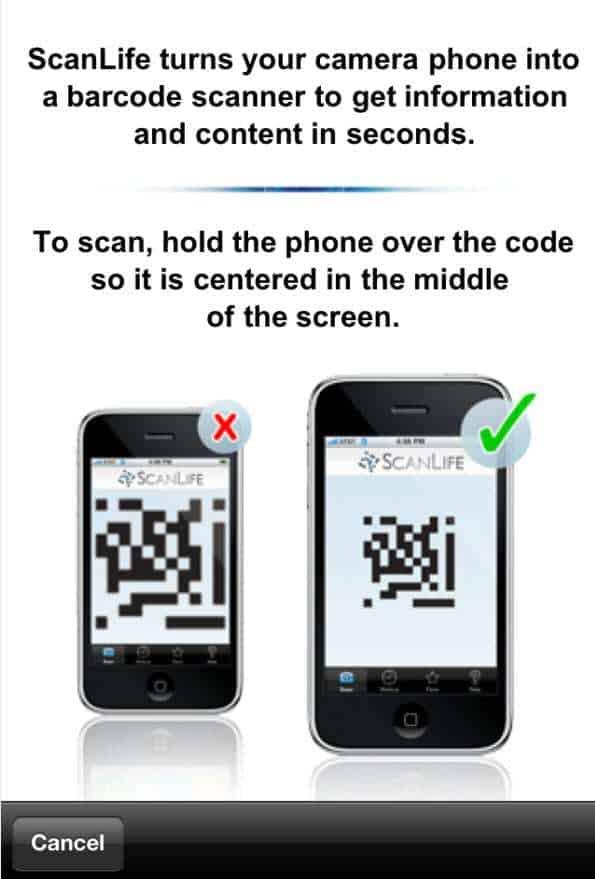 ScanLife Application QR codes
