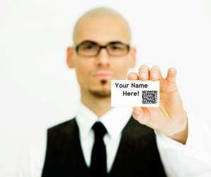 QR codes used by mobile communication app for digital user identities