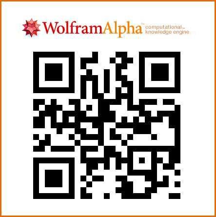 WolframAlpha's QR Code