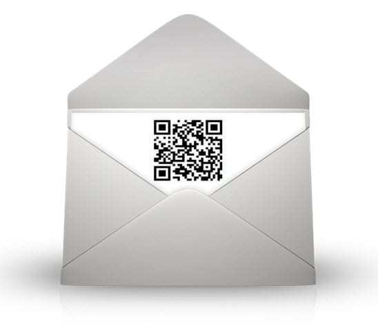 QR Codes mobile commerce used by mail service