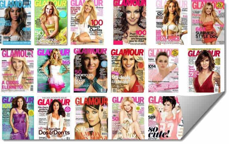Glamour magazine uses QR codes in print ads to successfully achieve 512,339 scans