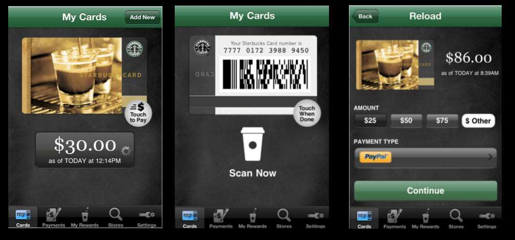 Starbucks Card Mobile App - mobile marketing campaign