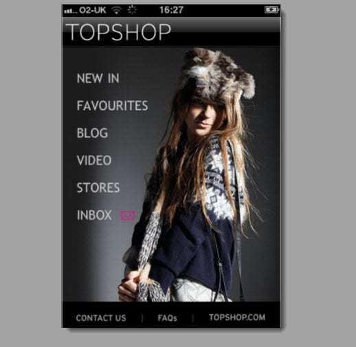 Topshop Mobile Advertising