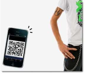 Album cover t-shirts use QR codes for music downloads