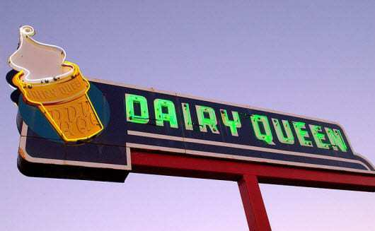 The Original Dairy Queen Neon Sign