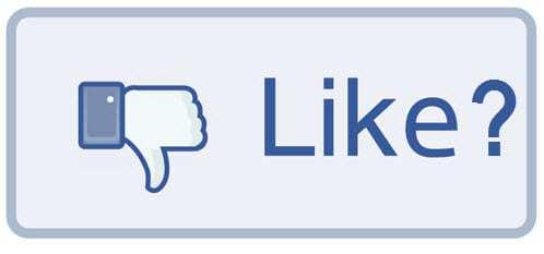 Facebook downvote social media marketing
