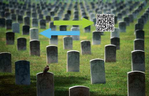 QR Codes on headstones