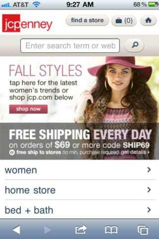 JC Penney Mobile Marketing