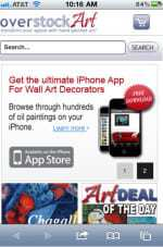 OverstockArt.com announces its mobile website's official launch