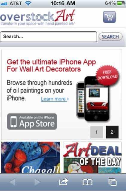 Overstockart.com Mobile Site