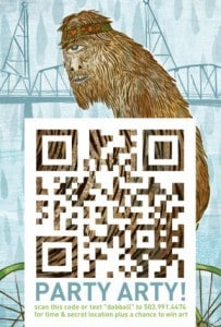 Flash mob uses QR codes to promote spur-the-moment art gallery