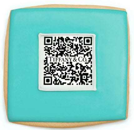 Tiffany's QR Code Cookies