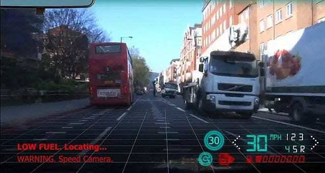 Augmented Reality Windshield Example