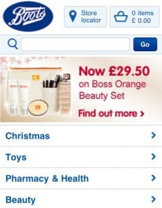 Boots.com mobile commerce site sees 300,000 visitors within its first month