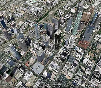 Downtown Los Angeles Google Earth