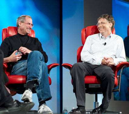 Steve Jobs and Bill Gates 2007