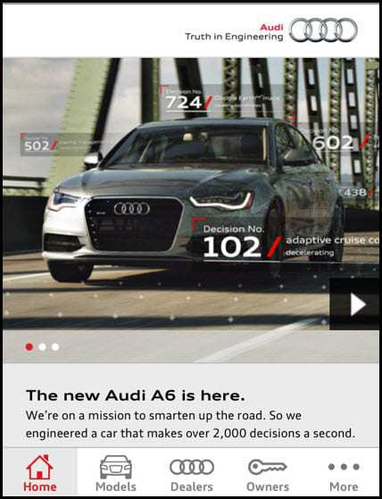 Audi augmented reality - Mobile Website
