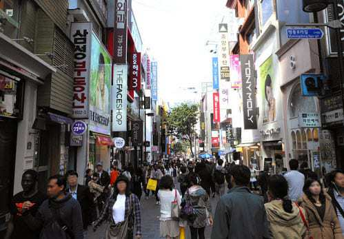 MyeongDong Street South Korea Mobile Commerce