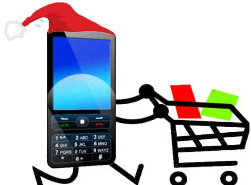 Mobile commerce holiday shopping