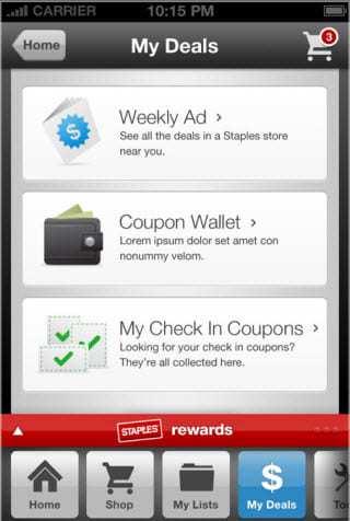 Staples Mobile App