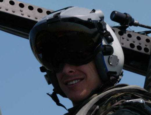 This is not a Vuzix helmet - This is a helmet mounted cueing system