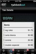 Restaurants and bars are beginning to use the Tabbedout mobile payment app