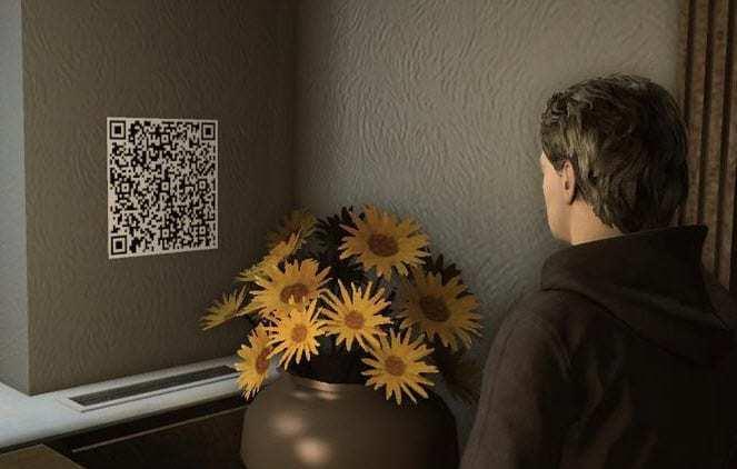 Alan Wake QR Code in Game