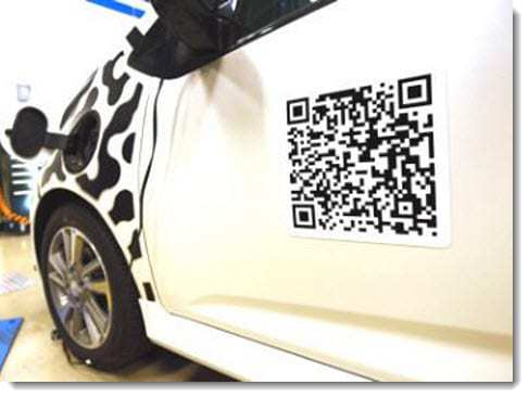 Chevrolet QR Code for Electric Car
