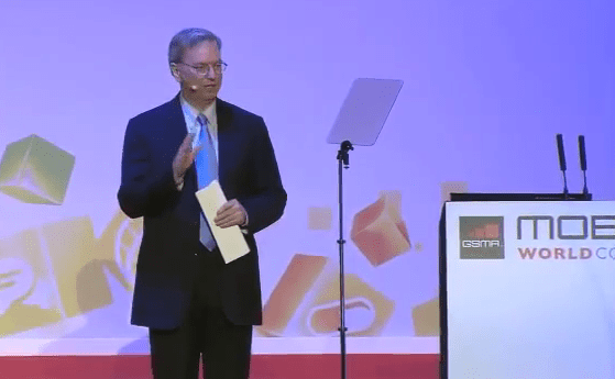 Technology today and tomorrow according to Google CEO Eric Schmidt at the Mobile World Congress