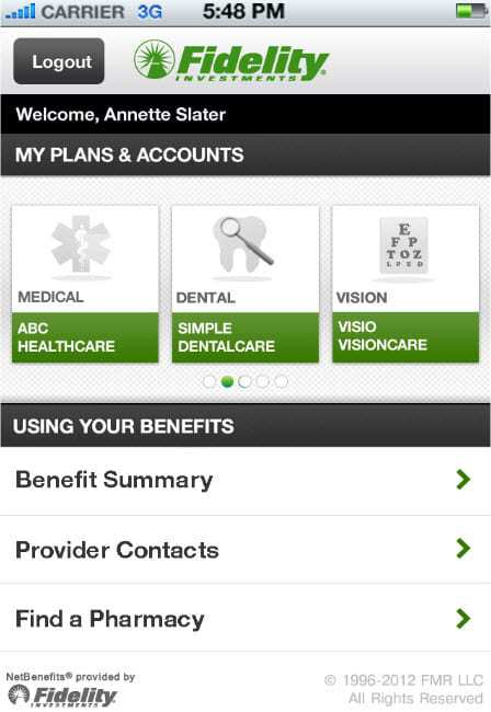 Fidelity Investments launches iOS and Android mobile app for health and insurance
