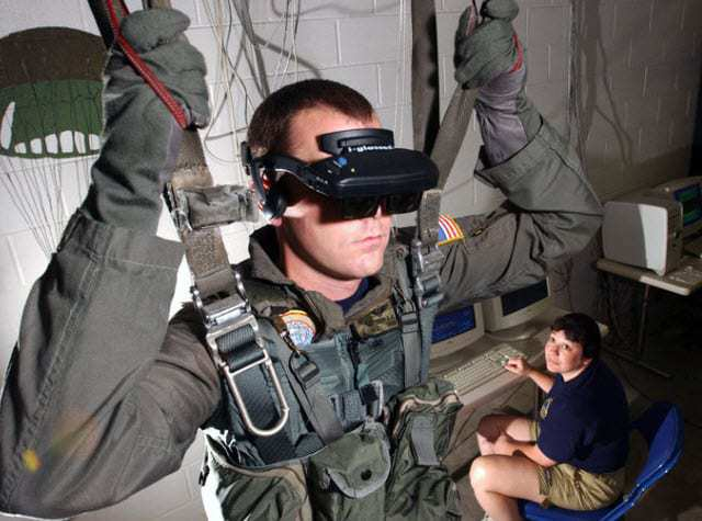 Military training with augmented reality