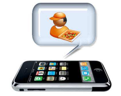 Mobile Commerce pizza