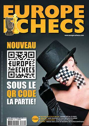 European chess magazine uses QR codes to serve fans of the sport