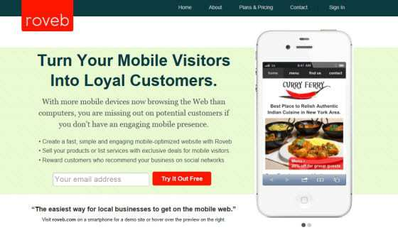 Mobile Site Creation Roveb site