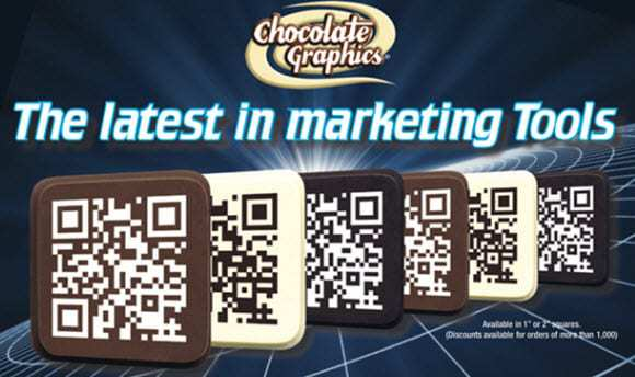 Chocolate Graphics releases the latest in mobile marketing through QR code embossed treats