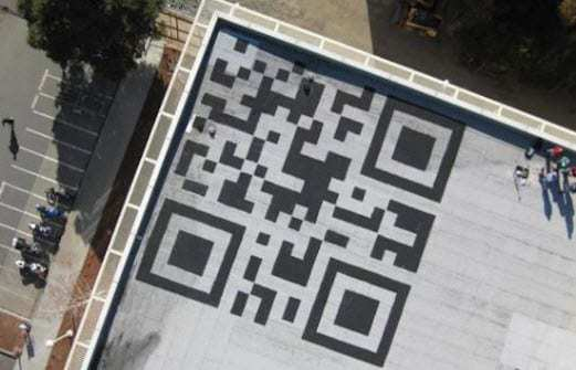 Facebook team adds giant QR code to rooftop