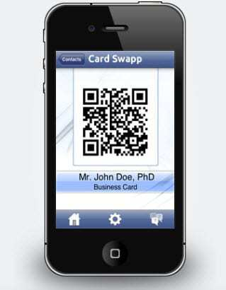 Cab match llc is pleased to announce the release of card swapp cardswapp qr code app reheart Image collections