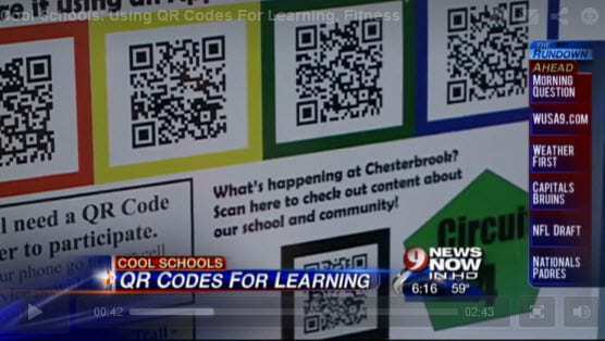 Elementary school use QR code technology to encourage students to learn and stay fit