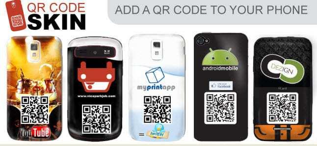 QR code phone skins
