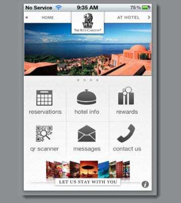 Ritz Carlton Mobile App