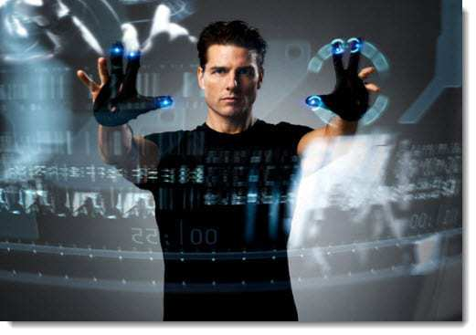 Scene from Minority Report the Movie - Perceptual Computing concept