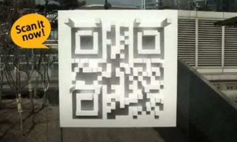 qr codes shadow used to bring in customers