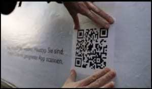QR codes assigned to hundreds of digital encyclopedia artist entries