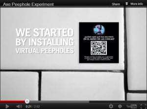 Axe Body Spray QR code marketing peepholes achieve massive results from male audience